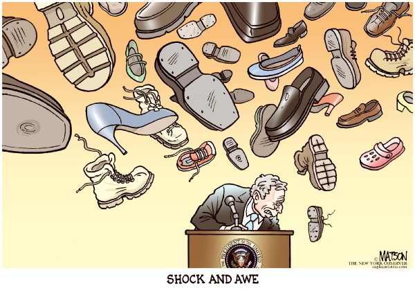 shoe throwing