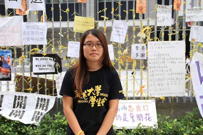 """Yvonne Leung Lai Kwong: """"These three weeks spent on the streets with my fellow demonstrators have been an intense experience."""""""