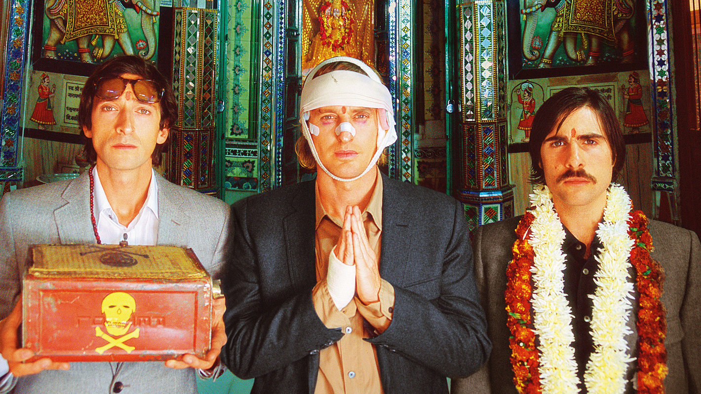 Foreigners in India (a still from Darjeeling Limited)