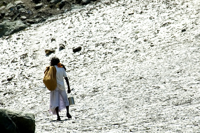 Hindus returning to Kashmir for the Amarnath Yatra