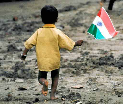 kid-carrying-indian-flag
