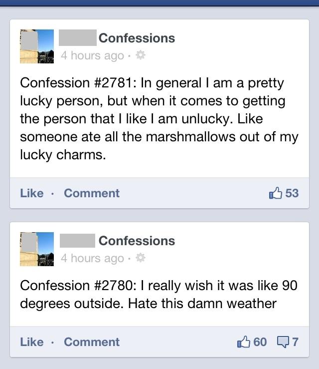 FB confessions