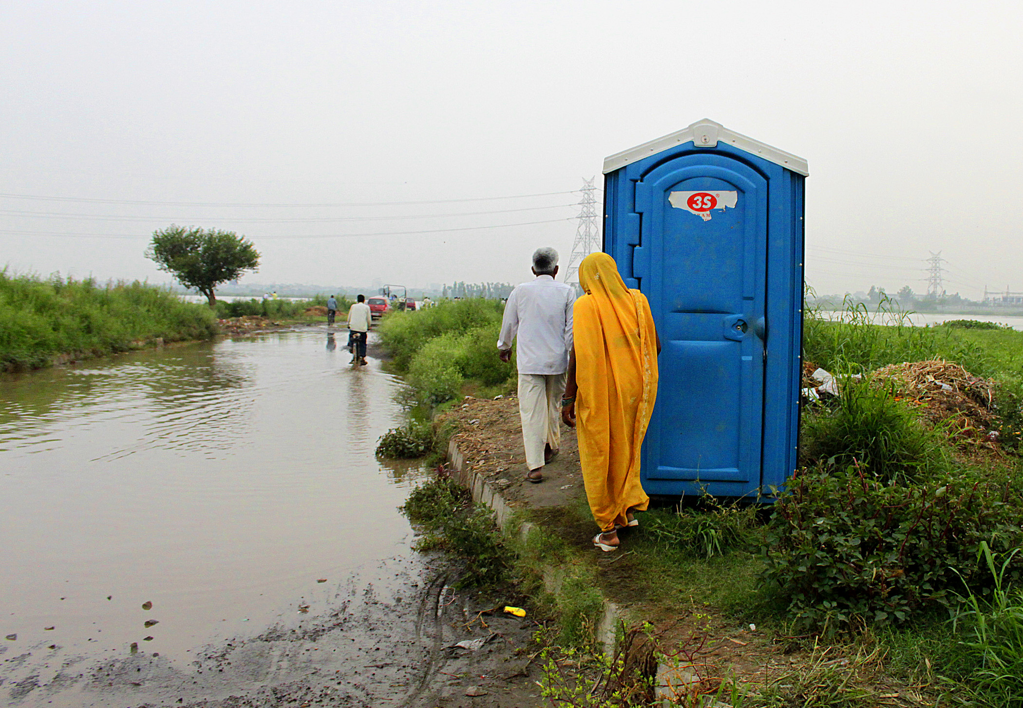 Toilet Installed at flooded area