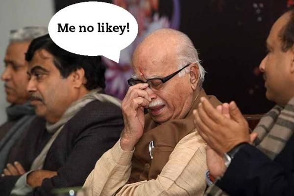advani me no likey
