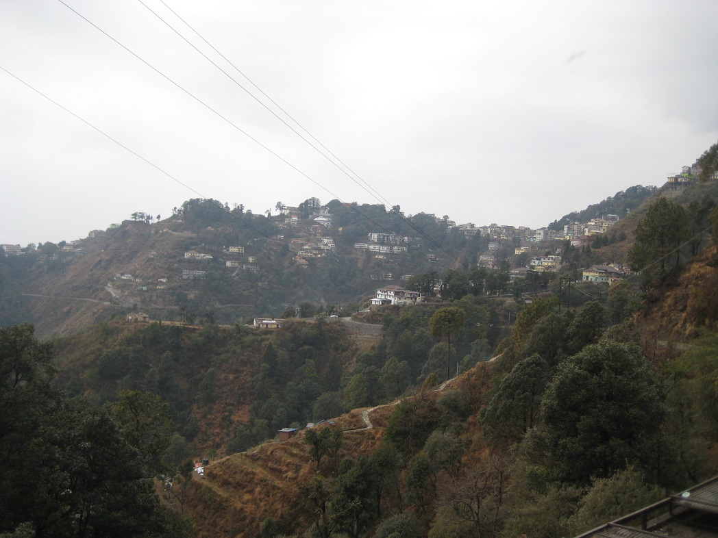 Mussoorie on a cloudy day