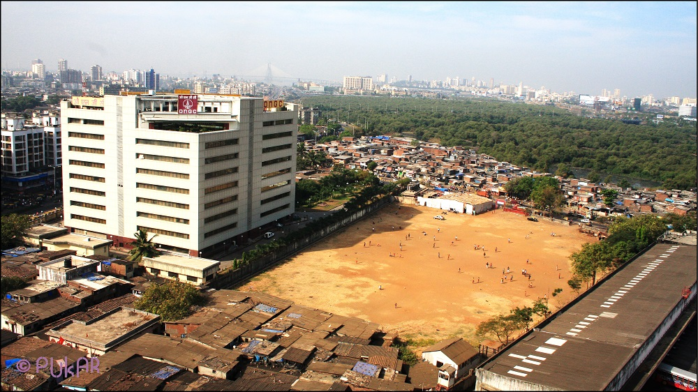 The open space in Rajiv Gandhi Nagar where the Mumbai District sports complex now stands: In 2008