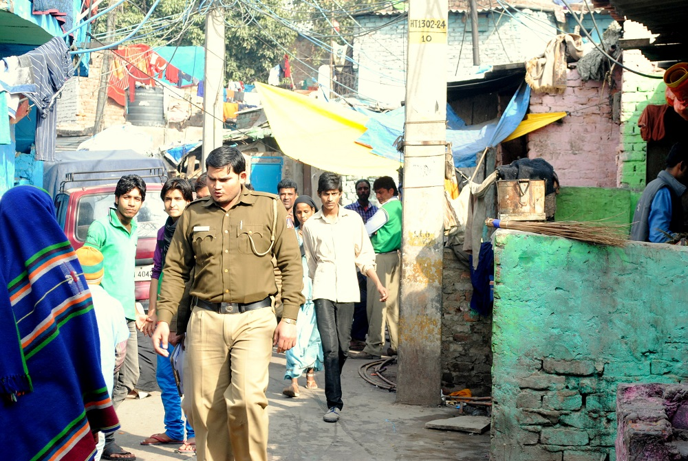 Police visits the colony regularly