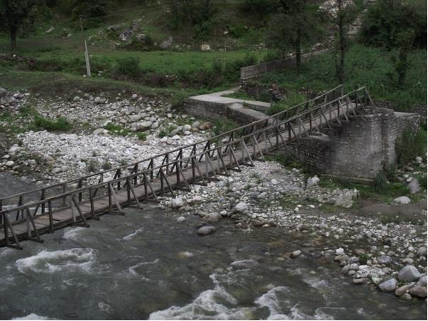 Some abandoned wobbly bridge