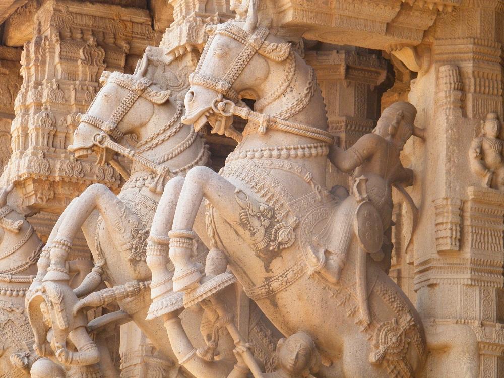 Inside the Srirangam Temple