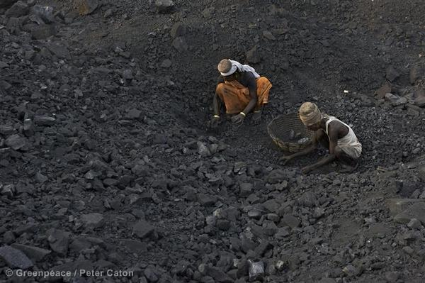 Coal Pickers at Jharia Coal Mine