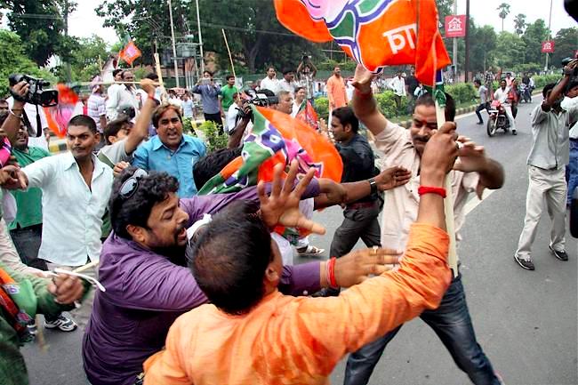 BJP-JDU-clash