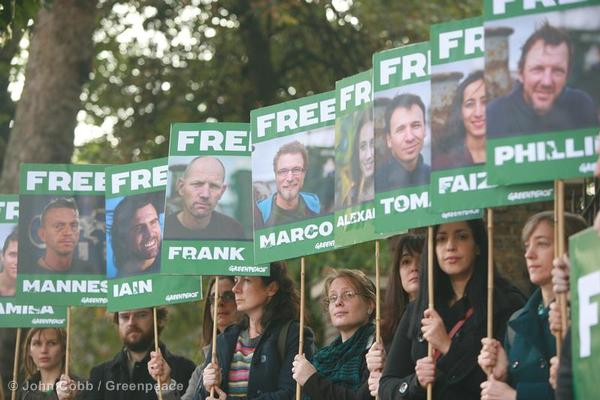 Protests demanding the release of the Arctic 30