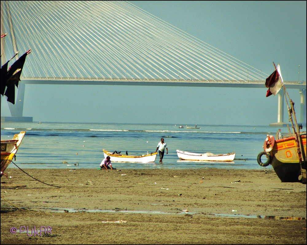 Day breaks and the fishermen of Mahim Koliwada are ready to set sail