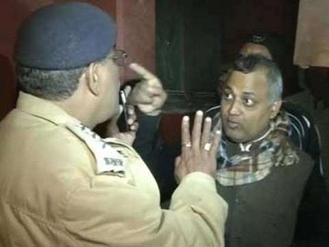BJP and AAP supporters clash in Delhi, AAP candidates car