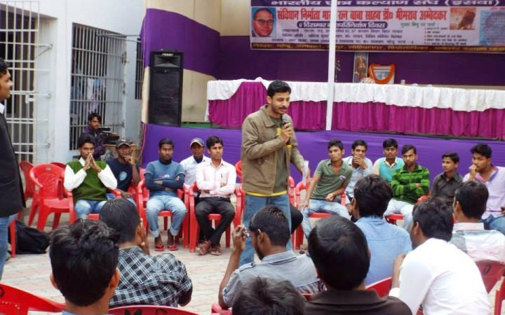 Members of the Bihar Ambedkar Students' Forum hold sessions with Dalit students to engage them in discussions on contemporary politics so that they can keep all the relevant issues in mind when they vote.