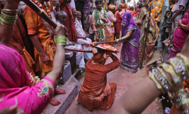 The Lathmar Holi of Barsana, near Mathura