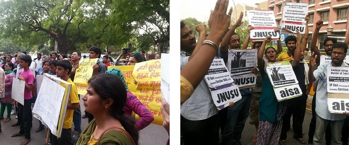 Protests broke out in Delhi demanding action on the cases.