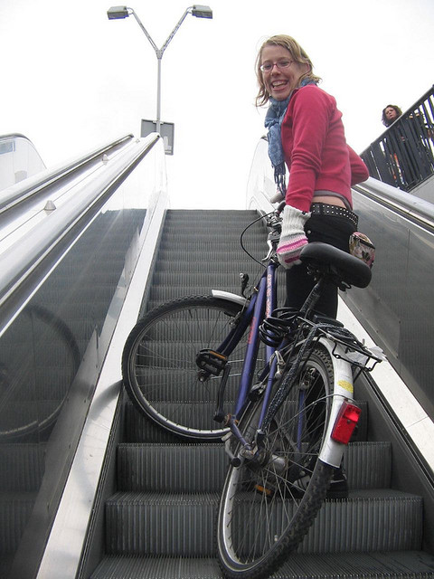 bikes-on-escalators