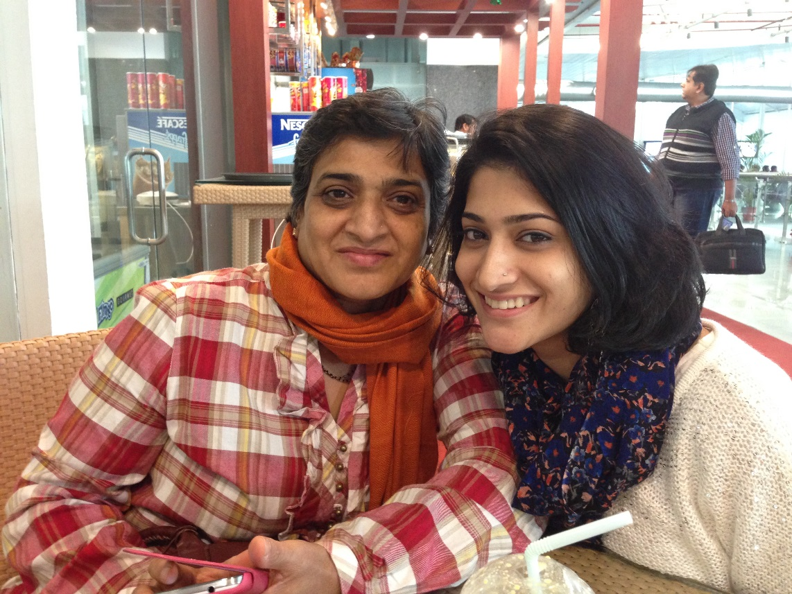 Ashwini Ponnappa with her mother