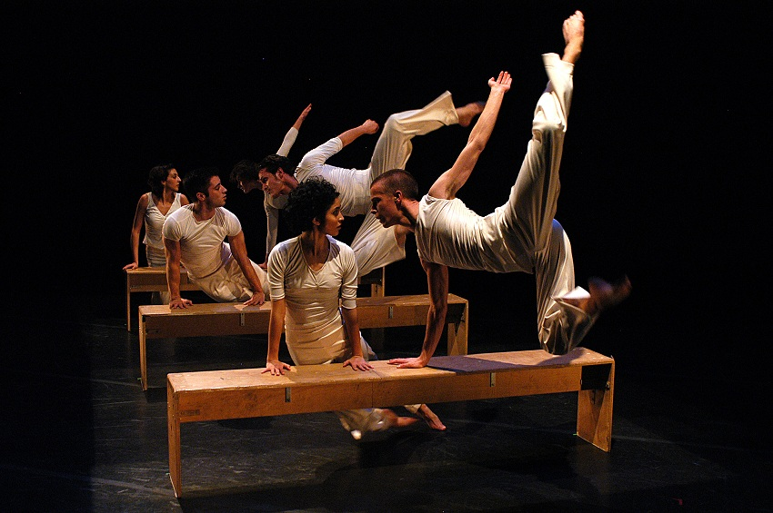 """Dance Revolutions,"" performed December 9-11, 2005. With choreography by Joe Chvala, Carl Flink, Marge Maddux, Charles Moulton, Zoe Sealy, and Shapiro & Smith. Photo by V. Paul Virtucio."