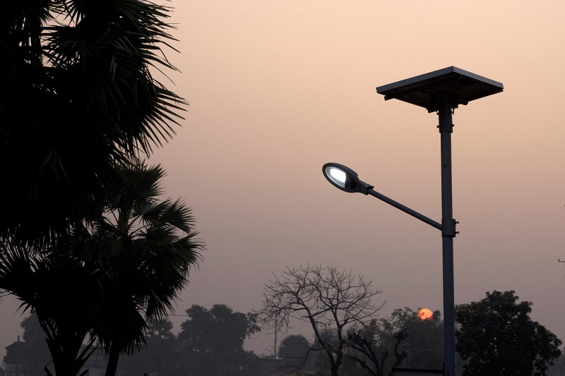 Solar Powered Street Light in Dharnai Village in India. Photo Credit: Subrata Biswas
