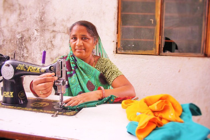 Lalitaben from Chandkheda, Gujarat, is one of the hundreds of rural women who have benefited from training, capital, financial awareness, and insurance support by non-profits like Prayas
