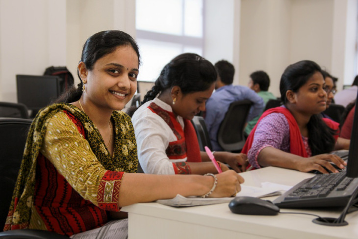 Pravalika, crowd-funded by lenders like you on Milaap, is getting skilled through NSDC-partner Talent Sprint's IT vocational course
