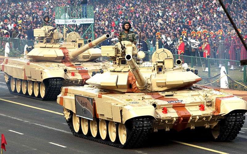 Indian T-90 tanks