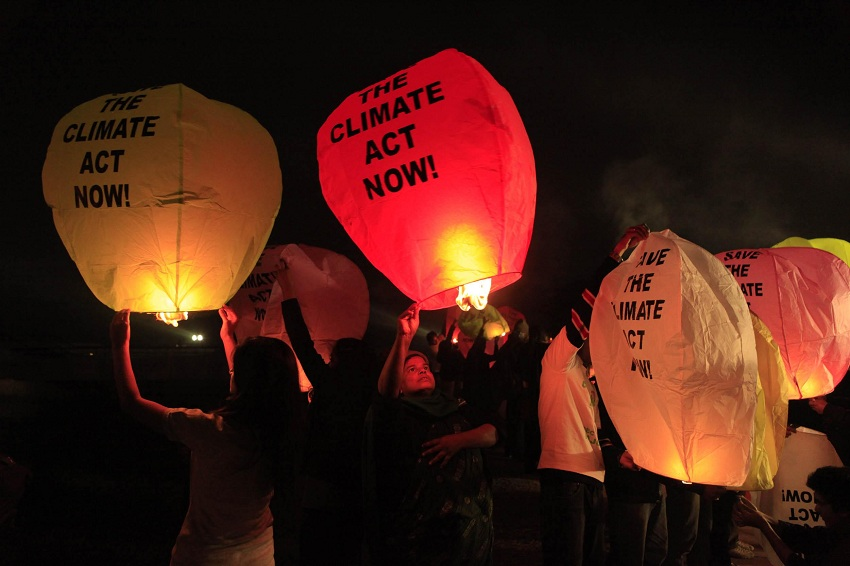 COP15 Climate Lanterns in Delhi