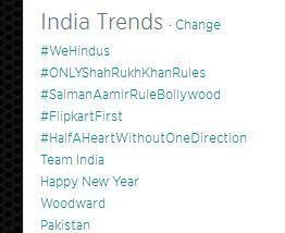 Their trend of #WeHindus on 18th August,2014.