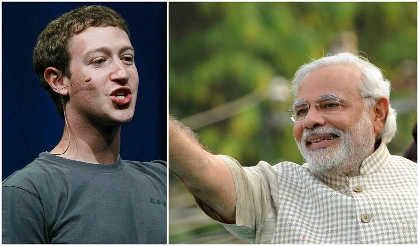 narendra Modi-mark Zuckerberg