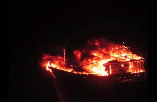 boat explodes