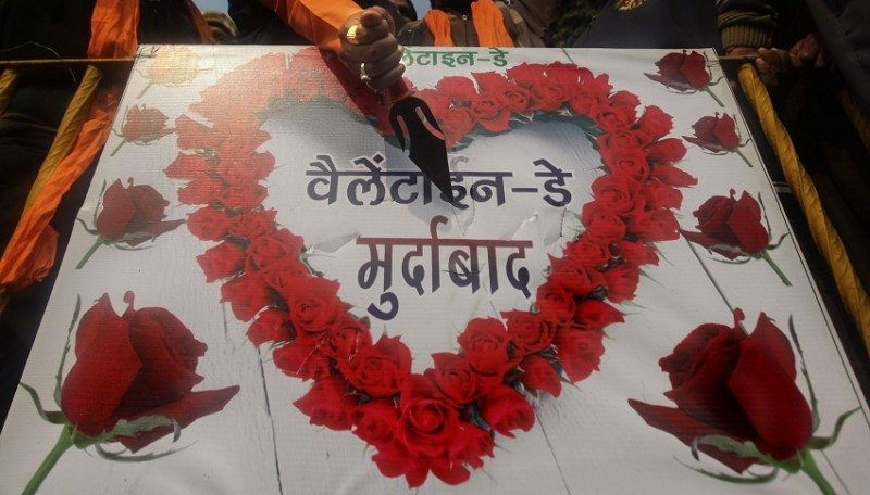 India Valentines Day Protest