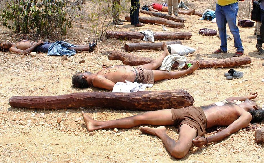 sandalwood smugglers killed
