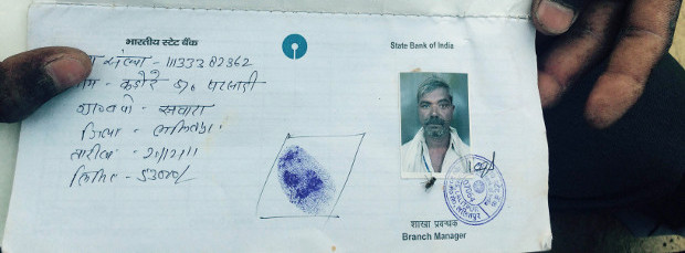 The bank passbook of Kadore Kushwaha, a 56-year-old Uttar Pradesh wheat farmer who failed to repay a four-year debt of more than Rs 41,000. The local administration, which has not sent an official to find out how he died, refuses to acknowledge that such suicides are a result of agricultural distress, blaming them on drinking and disease. Image: Bhasker Tripathi, Gaon Connection