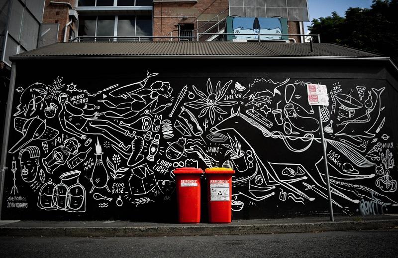 Street art by Ghostpatrol in Brisbane. (Paul Cunningham)