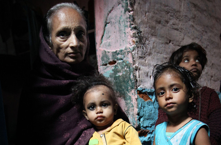 Beena with her grandchildren. Courtesy- Save The Children
