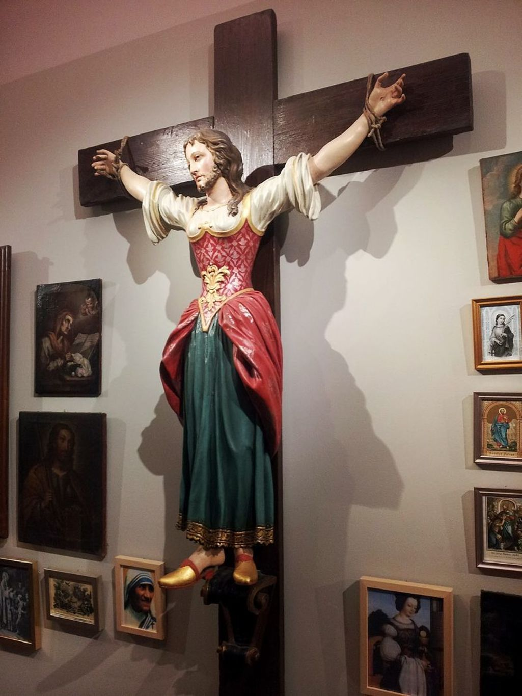 Saint Wilgefortis in the diocesan museum of Graz, Austria. Wikimedia Commons