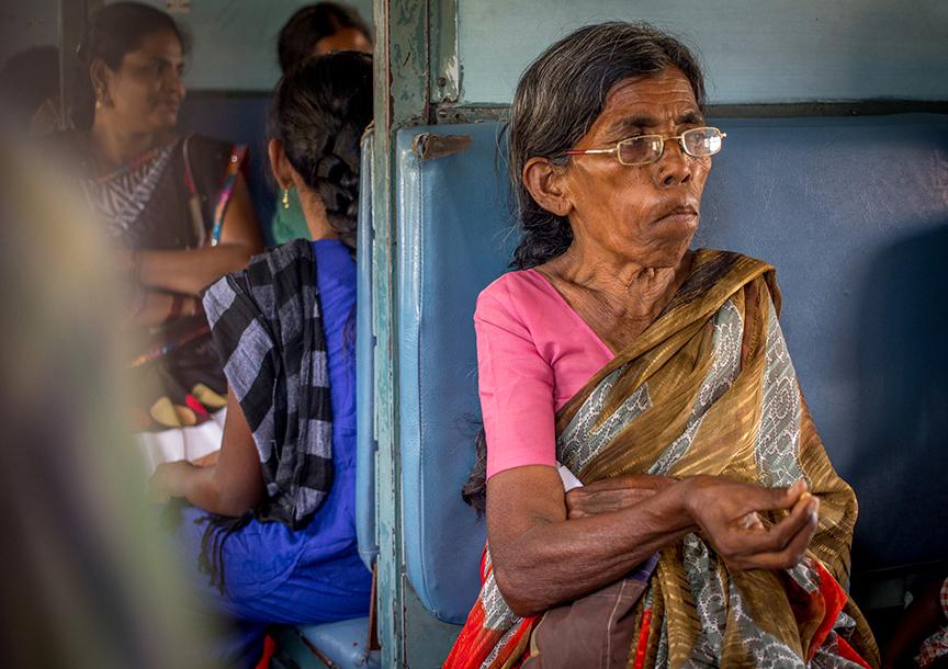 62 year old venkatamma travels back to kadiri in the train