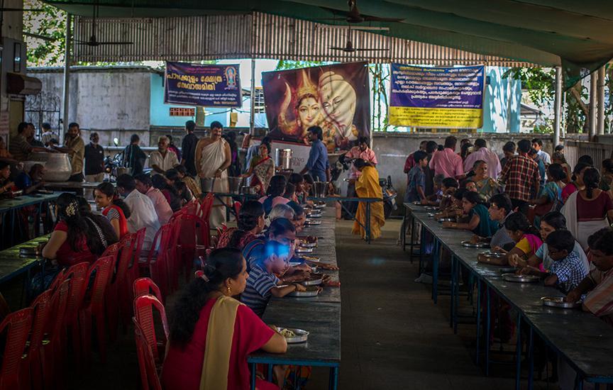 Free meals at the VHP run shivalayam