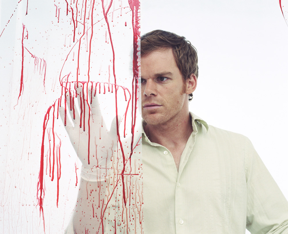 Television serial killer Dexter may be more of a psychopath than a sociopath due to his methodically delivered kills. Image source:  Pimkie/Flickr