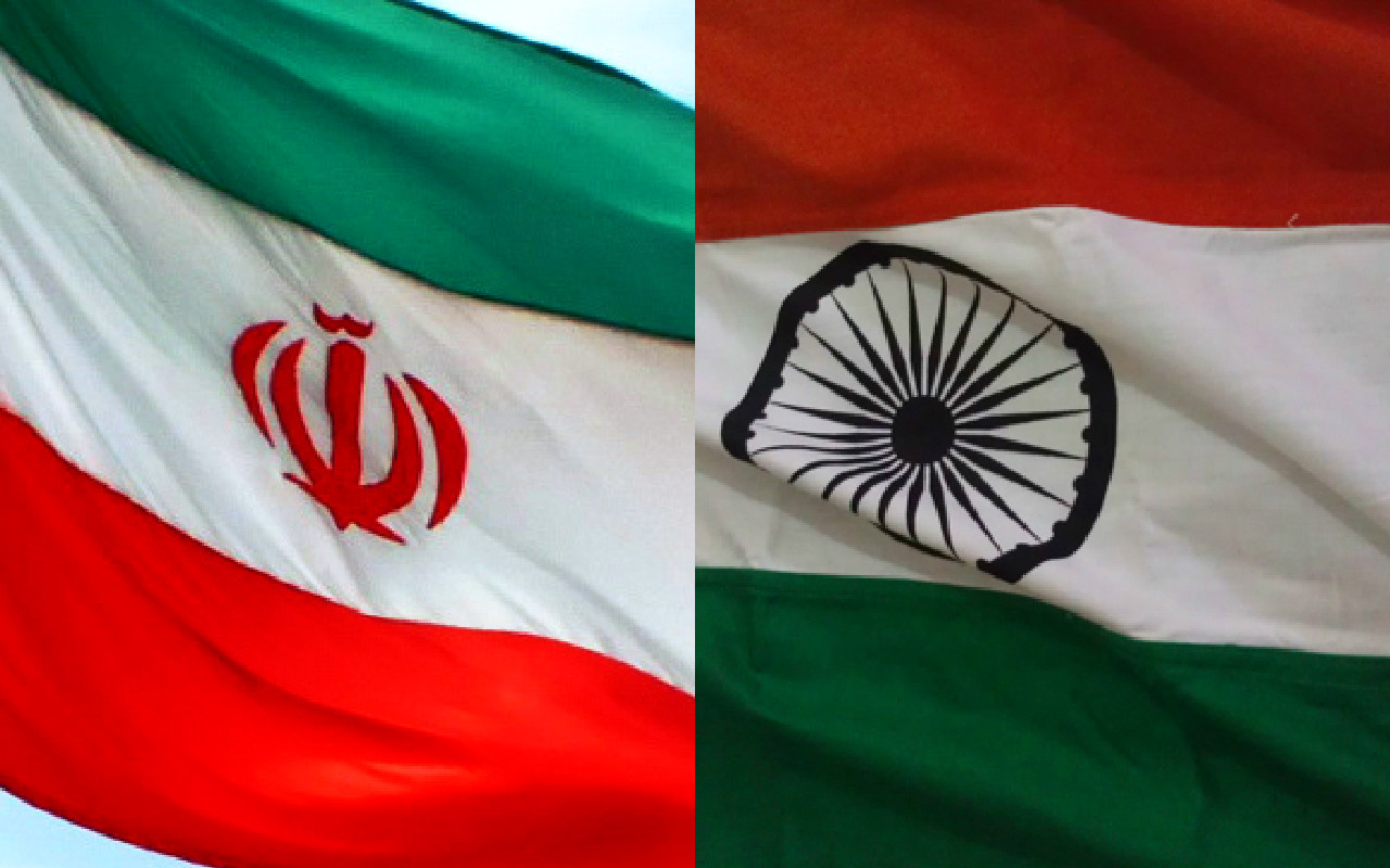 india iran flags