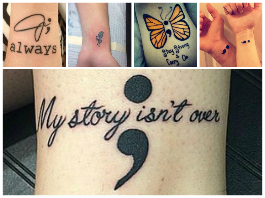 Good To Get Inked Semicolon Tattoos That Are Un Pausing The