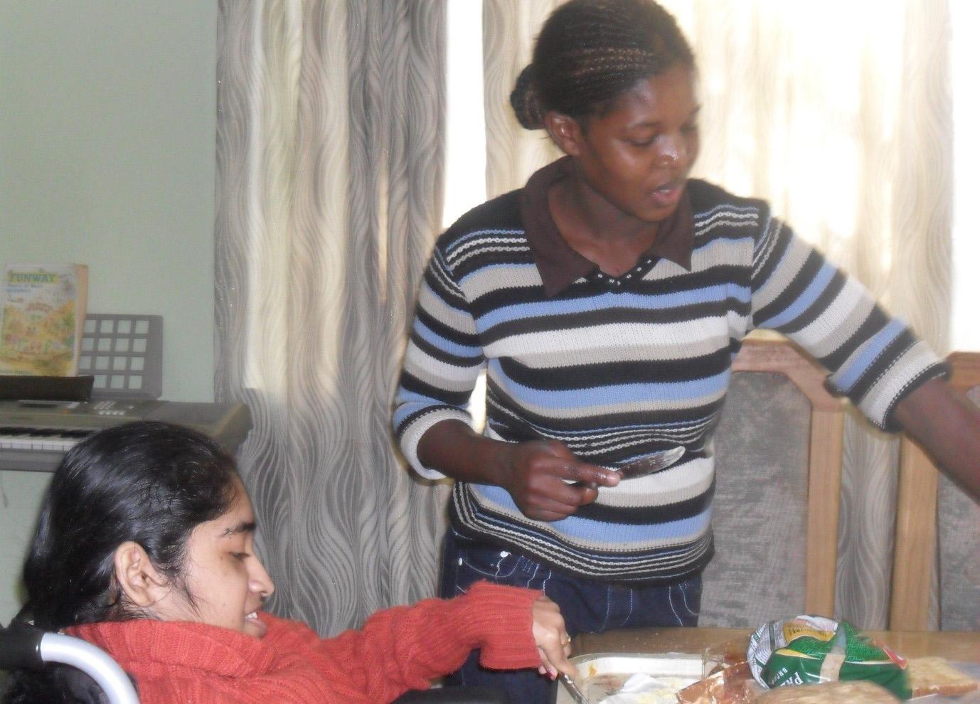 nisha verghese with housekeeper