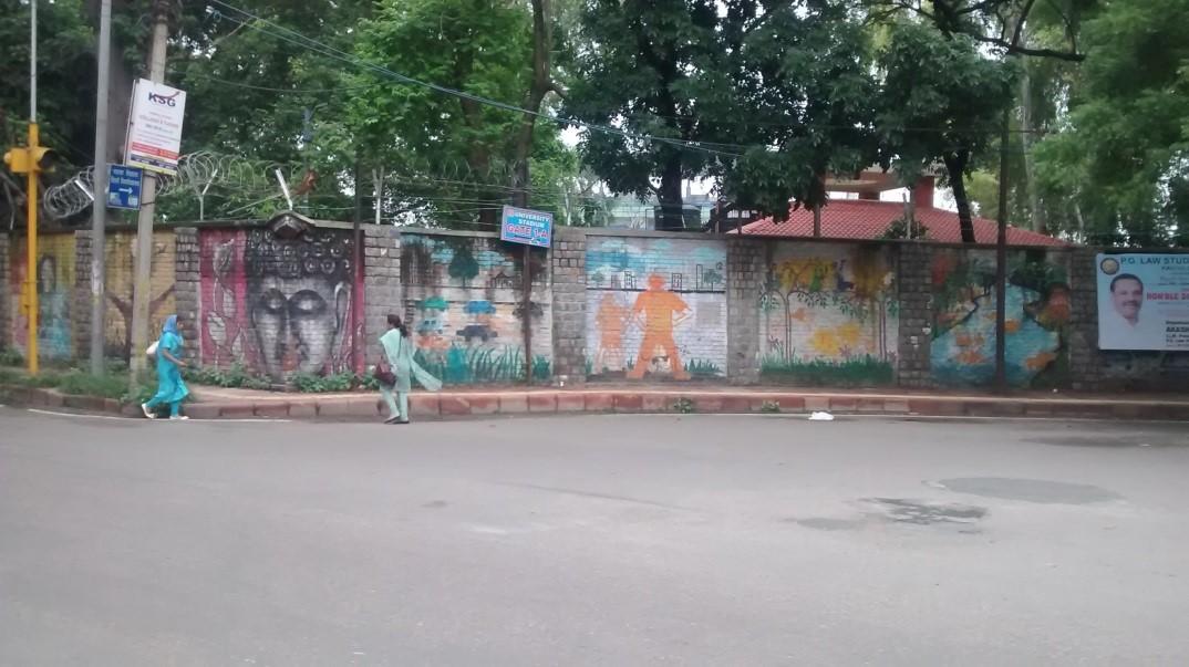 street art north campus delhi university 2
