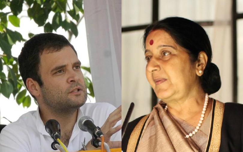 rahul gandhi sushma swaraj