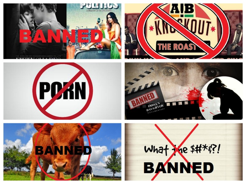 censorship, bans in india