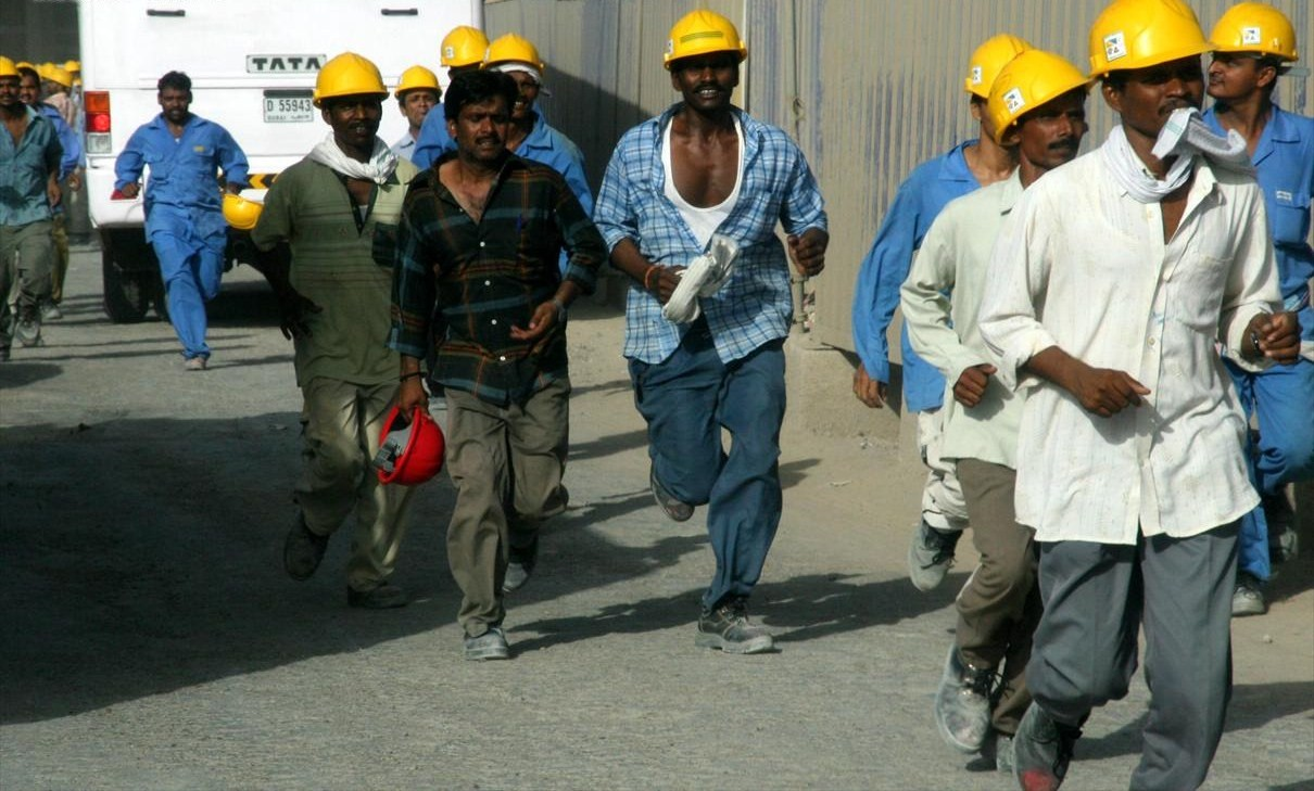 Construction workers at Burj, Dubai. For representation only. Image source: Wikimedia Commons