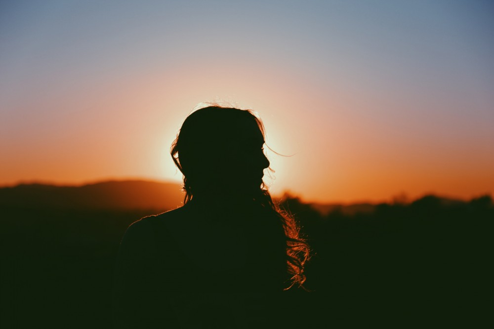 woman silhouette girl shadow
