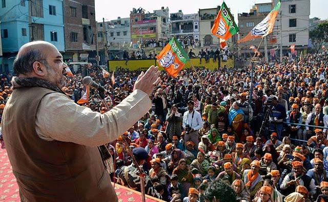 Amit Shah of the BJP in Bihar. Image source: Google+